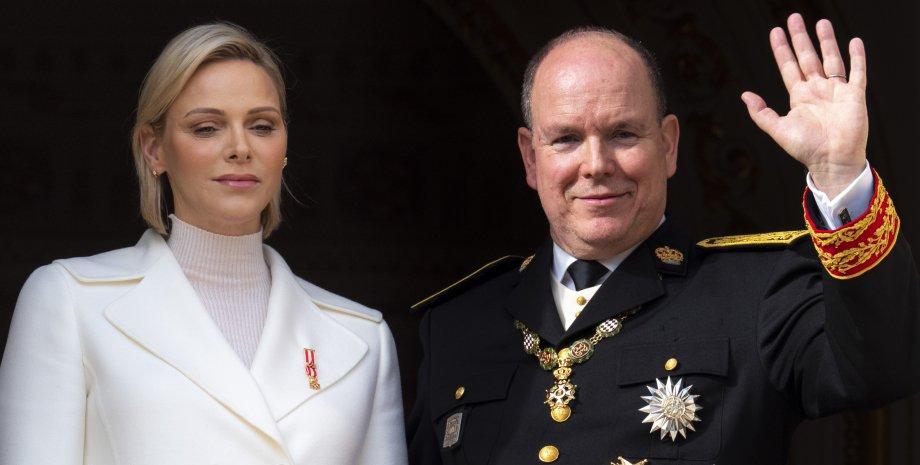 Княгиня Шарлен с мужем