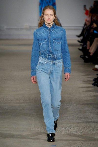 Прямые джинсы в трендах 2021 фото
