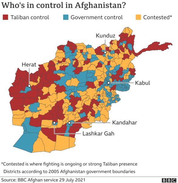 кто контролирует афганистан, карта