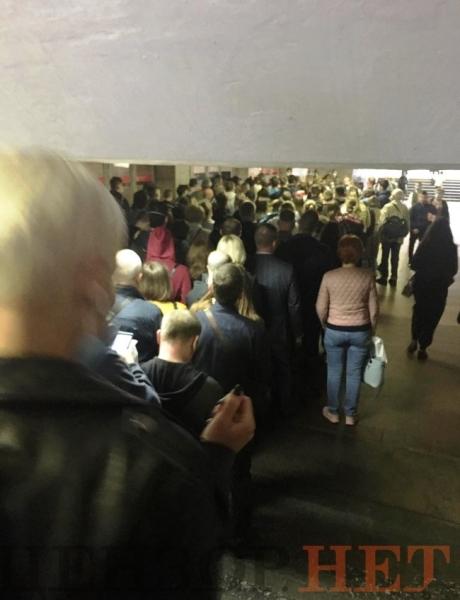 метро, позняки, киев, давка