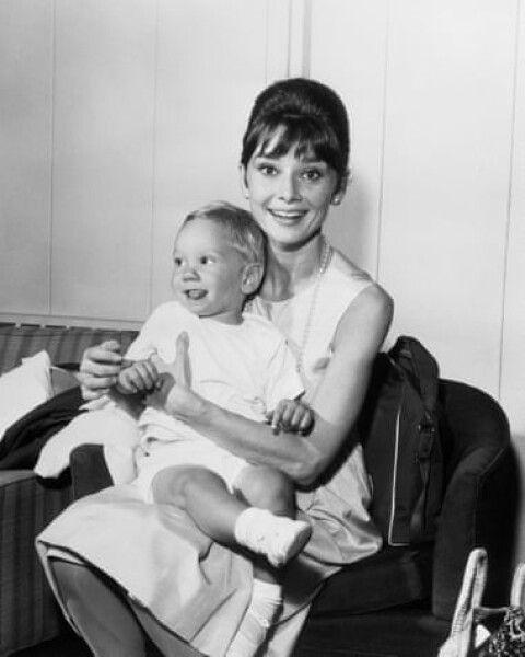 Одри Хепберн с сыном Шоном