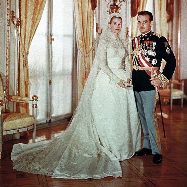 свадьба Грейс Келли, князь Монако, князь Ренье, свадебное платье Грейс Келли, фото