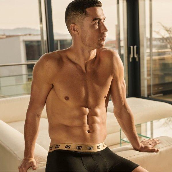 Cristiano Ronaldo in shorts, footballer
