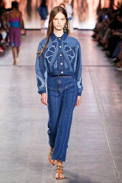 Классические оттенки синего джинсы 2021 фото